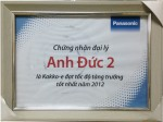 Panasonic chứng nhận Anh Đức là đại lý
